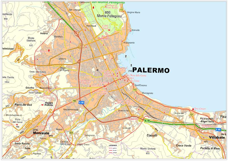La tangenziale di Palermo secondo il progetto ANAS del 2016